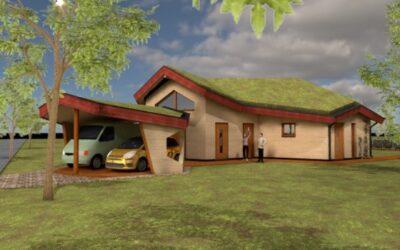 ORIO architecten ontwerpt een ecologische 'warme' woning in Lievingerveld gebaseerd op de Flower of Life