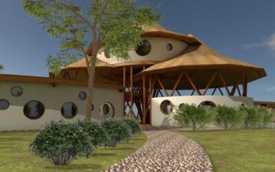 Organisch en energetisch ontwerp voor een school, hotel, wellness, …..