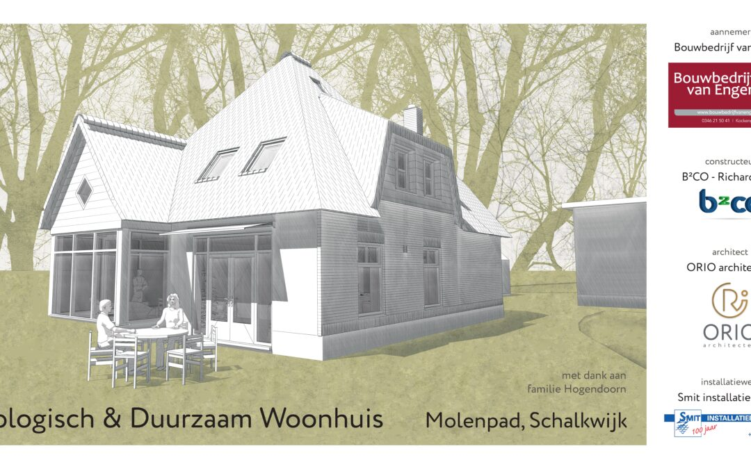 ORIO architecten bezoekt bouw ecologische woning in Schalkwijk